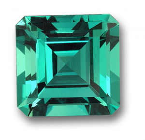 Green Faceted Emerald