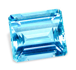Image of Aquamarine  Gemstone Emerald Cut