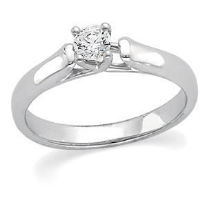 Image of Platinum Diamond Engagement Ring