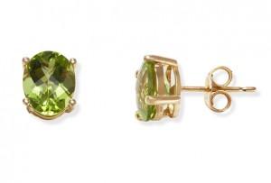 Image of Prong Set Peridot Stud Earrings