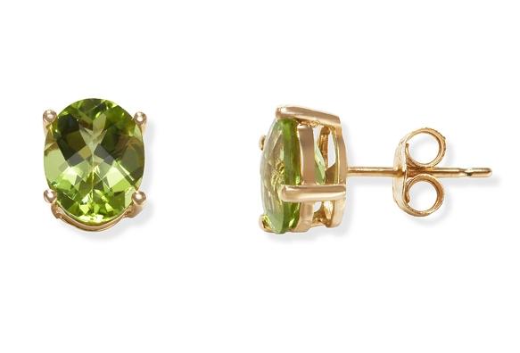 Gemstone jewelry settings what you need to know gemstoneguru image of prong set peridot stud earrings aloadofball Image collections