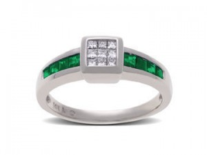 Image of Channel Setting in Emerald Ring