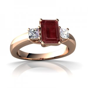 Red Ruby Ring in Rose Gold Image