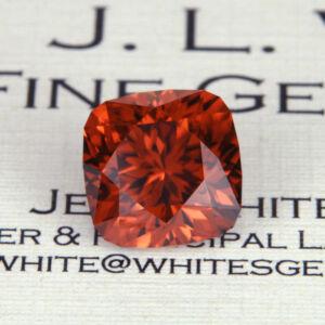 Gem cutting: Zircon gemstone after cutting before heat treatement