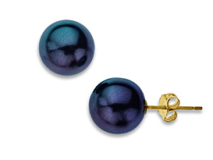 Image of Tahitian Pearl Earrings in 14K Gold